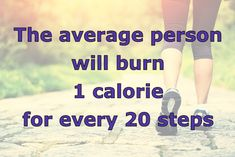 calories burned per step