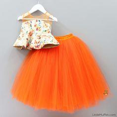 Frocks For Girls, Kids Frocks, Little Girl Dresses, Girls Dresses, Kids Indian Wear, Kids Ethnic Wear, Baby Lehenga, Kids Lehenga, Baby Girl Fashion