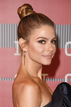 Hair Knot - Maria Menounos is chic as ever in a polished hair knot updo.