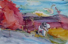Watercolor 106x76cm
