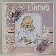 Lene'S Stempelkrok: Dåpskort I Card, Lens, Snoopy, Paper, Projects, Character, Art, Log Projects, Art Background
