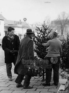Christmas tree sales in Munich, Stöhr / Timeline Images # … - Christmas Ideas Christmas Tree Sale, Black Christmas, Christmas Ideas, Timeline Images, Christen, Christmas Traditions, Munich, Black And White, Retro Vintage