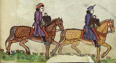 "Miniatura da ""De arte venandi cum avibus"" di Federico II - Italia meridionale, 1258-1266 - Roma, Biblioteca Apostolica Vaticana."