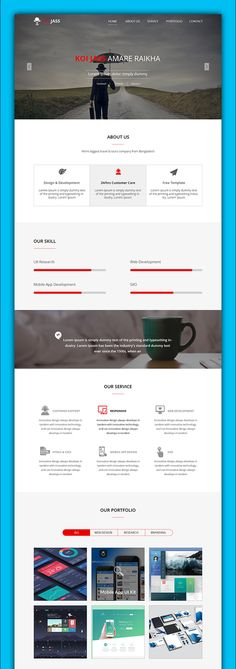 Free Creative One Page PSD Web Template