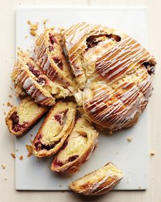 Yeasted Cheese-and-Sour-Cherry Coffee Cake - Martha Stewart Recipes