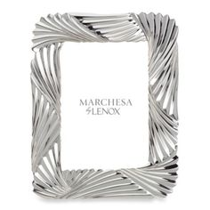 Marchesa by Lenox® Pleated Swirl 5-Inch x 7-Inch Metal Frame - BedBathandBeyond.com