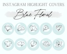 Instagram Highlight Covers | Highlight Icons | Instagram Branding | Bloggers and Influencers
