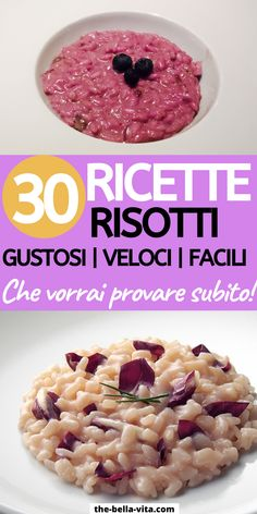 Risotto Recipes, Rice Recipes, Vegan Recipes, Healthy Snacks, Healthy Eating, Ground Beef Recipes, Italian Recipes, Love Food, Easy Meals
