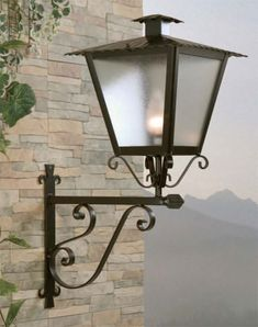 Wall Lights, Lamp, Street Light, Exterior Lighting, Candle Sconces, Brass Lighting, Lantern Lights, Iron Decor, Outdoor Wall Lamps