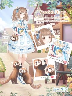 Love Nikki-Dress UP Queen. Love dressing up, shopping, DIY and stories? Come to play Love Nikki, a dressing up. Girls Characters, Cartoon Characters, Wonderland Events, Create Your Own Character, Nikki Love, Queen Outfit, Little Panda, Bear Ears, Kawaii Anime Girl