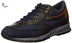 Geox U Wells A, Sneakers Basses Homme, Noir (Black C9999), 41 EU