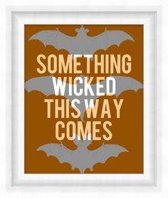 Printable Poster - Halloween Bats - by BonMotPhraseology $5.00