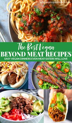 Looking for the perfect vegan beyond meat recipes to satisfy meat-eating friends and family? Check out this list of classic dishes that will WOW any guest! Veggie Meat Recipes, Vegan Lunch Recipes, Sausage Recipes, Vegan Dinners, Whole Food Recipes, Healthy Recipes, Vegan Lunches, Vegan Snacks, Vegan Food