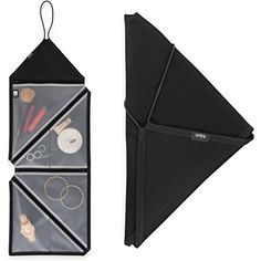 2 Umbra Tangram Folding Hanging Travel Accessories Organizers For Jewelry Cosmetic Bag Makeup Toiletries Packing