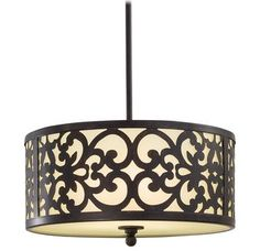 """Minka Lavery 1493 3 Light 10"""" Height Indoor Drum Pendant from the Nanti Collection Image"""