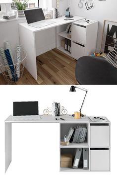 Γραφείο Adapta, το πιο μοντέρνο έπιπλο γραφείου με μίνιμαλ design και 4 αποθηκευτικούς χώρους  Ένα γραφείο για όλες τις ηλικίες που συνδυάζεται με όλα τα έπιπλα χάρη στο λευκό του χρώμα.  Συμπληρώνει τέλεια κάθε δωμάτιο και αποτελεί την νέα τάση στα γραφεία! Athens, Corner Desk, Kids, Furniture, Home Decor, Corner Table, Young Children, Boys, Decoration Home