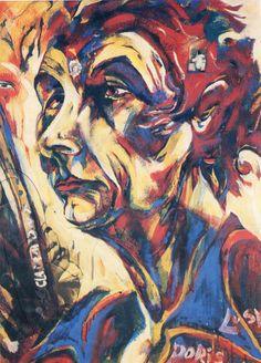 Portrait of Doris Lusk by Philip Clairmont, NZ Artist. Modern Artists, Artists Like, Artist Painting, Figure Painting, New Zealand Art, Nz Art, Maori Art, Color Harmony, High Art