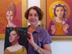 """Artist Portrait - Lea Bradovich (""""My magical realist portraits depict a playful engagement with nature in her guise as the eternal feminine. ...Delight is sufficient reason to proceed, and so I have."""")"""