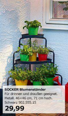 SOCKER Eckregal mit Blumenständer bei IKEA