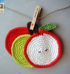 Apple CoastersSet of 3 by sabahnur on Etsy. , via Etsy.