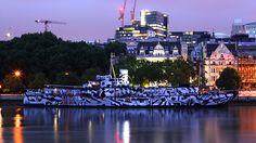 Dazzle Ship London HMS President c. David Kew