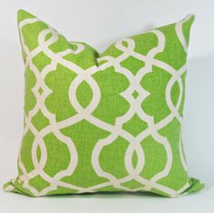 Green Decorative Pillow Covers -Green Trellis Pillow Lumbar Pillow or Euro Sham Green Pillow Covers, Green Pillows, Decorative Pillow Covers, Cowhide Pillows, Throw Pillows, Custom Valances, Wicker Patio Furniture, Lumbar Pillow, Pillow Inserts