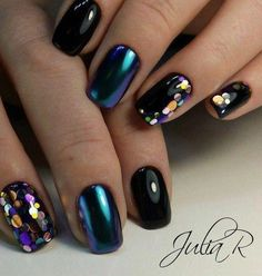 short acrylic nails that look amazing. Perfect Nails, Gorgeous Nails, Love Nails, Color Nails, Glitter Gradient Nails, Fall Acrylic Nails, Chrome Nails Designs, Nail Art Designs, Stylish Nails