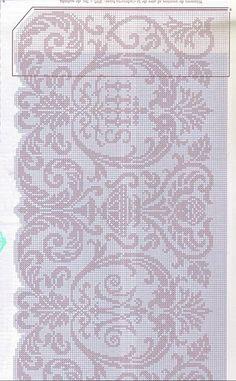 ru & Фото - Muestras y Motivos - Motivos Religiosos Ganchillo 01 - Chispitas Crochet Lace Edging, Crochet Borders, Crochet Cross, Crochet Home, Crochet Doilies, Knit Crochet, Tatting Patterns, Lace Patterns, Crochet Patterns
