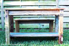 Save up to and build your own home furniture. amazing free DIY Projects, plans and tutorials. Driftwood Kitchen, Recycled Kitchen, Build Your Own House, Ana White, Home Furniture, Kitchen Island, Recycling, Bench, Tropical