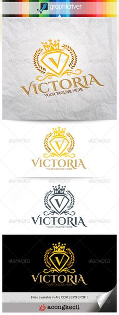 Victoria — Vector EPS #frame #crown • Available here → https://graphicriver.net/item/victoria/8322123?ref=pxcr