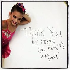 Thanks for getting Mackenzie's album to on iTunes! Her music video, as of Wednesday, was also on the charts! Dance Moms Facts, Dance Moms Girls, Dance Moms Youtube, Mackenzie Ziegler, Maddie Ziegler, Mack Z, Dance Mums, Z Music, All About Dance