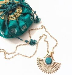 """221 Likes, 16 Comments - S H dot N (@shdotn) on Instagram: """"Teal for Tonight . . #featheredfan #necklace #teal #turquoise #tonight #lotuscollection…"""""""