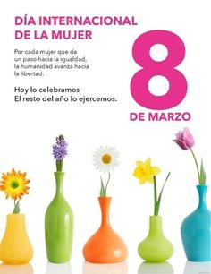 Happy Woman Day, Happy Women, Spanish Words, International Day, Start The Day, Ladies Day, Holiday, Reyes, Motivation Quotes