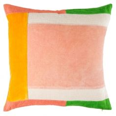 Colour Block Cushion Cover Pink & Green
