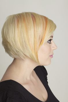 pastel blondes and oranges- Career Academy of Beauty student work Photographer: Matthew Schutter