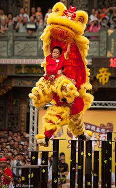 Lion Dance in Kaohsiung, Taiwan
