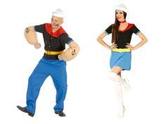 Pareja Disfraces de Marineros Popeye #parejas #disfraces #carnaval