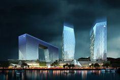 China Charcoal Resort Hotel and Corporate Headquarters masterplan, Zhuhai, China, by Cordogan Clark & Associates