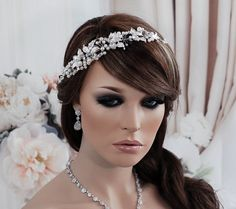 SALE Vine Headband Wedding Bridal Headpiece by EleganceByKate