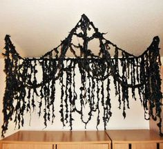 Hang These Black Garbage Bag Strips from The Ceiling