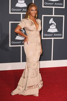 Beyoncé arrives at the 52nd Annual GRAMMY Awards on Jan. 31 at Staples Center in Los Angeles