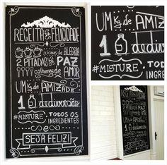 Projeto de quadro de giz desenvolvido para Cozinha Kleiner Schein | Carolina Haveroth