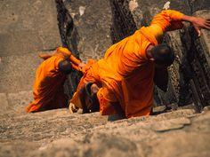 Buddhist Monks at Angkor Wat, Cambodia