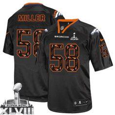 Von Miller Limited Jersey-80%OFF Nike New Lights Out Von Miller Limited Jersey at Broncos Shop. (Limited Nike Men's Von Miller New Lights Out Black Super Bowl XLVIII Jersey) Denver Broncos #58 NFL Easy Returns.