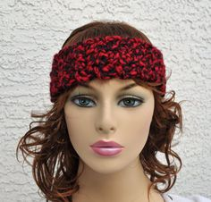 Black and Red Wide Stretchy Headband by TheFancyFrog on Etsy, $15.00