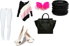 """""""black and rose"""" by luisa-rojas ❤ liked on Polyvore"""