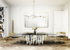 Luxury dining room decor by Boca do Lobo home inspiration ideas Luxury Dining Tables, Luxury Dining Room, Modern Dining Table, Dining Room Design, Dining Room Furniture, Dining Rooms, Room Chairs, Dining Chairs, Elegant Dining