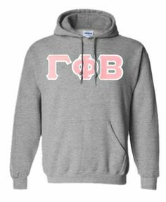 Gamma Phi Beta Lettered Hooded Sweatshirt