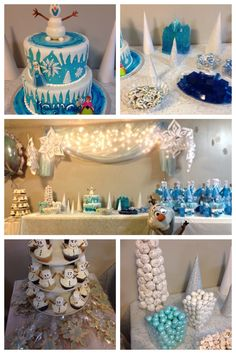 Disney Frozen Birthday Party- like the Olaf cupcakes Elsa Birthday Party, Olaf Birthday, Disney Frozen Birthday, Olaf Party, Frozen Theme Party, 4th Birthday Parties, Birthday Ideas, 5th Birthday, Rosalie