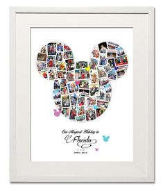 Magical Mickey Photo Collage,  A Beautiful way to bring together your greatest memories of Disneyland.
